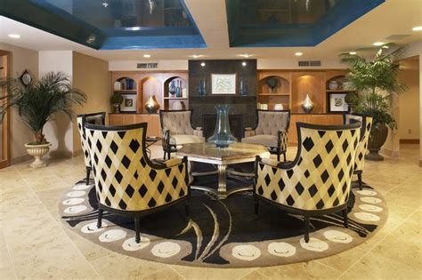 whitney landmark lobby contemporary living room