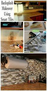 Art is beauty easy backsplash makeover using smart tiles for Kitchen cabinets lowes with tuesday morning wall art