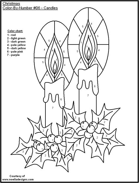 color  number christmas pages coloring home