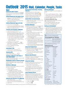 Outlook 2013 Quick Reference Card
