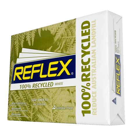 Reflex 100% Recycled 80gsm A4 Copy Paper 500 Sheet Ream  Ebay