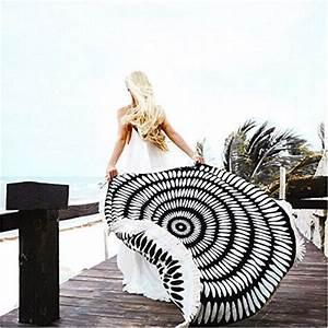 Serviette De Plage Ronde Coton : camtoa 150cm hippie serviette de plage ronde coton blend serviette mandala serviette de plage ~ Teatrodelosmanantiales.com Idées de Décoration