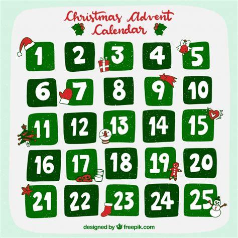 christmas advent calendar template psd christmas advent calendar in green vector free download