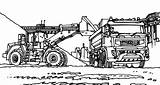 Coloring Excavator Pages Mining Coal Colornimbus Digger Print Sheets Tractors sketch template