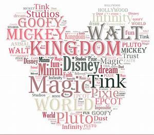 Free Disney Printable Word Cloud Digitally Disney