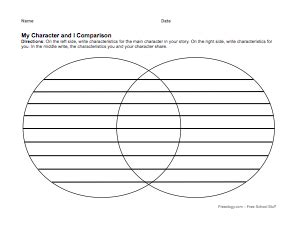 character compare contrast graphic organizer freeology