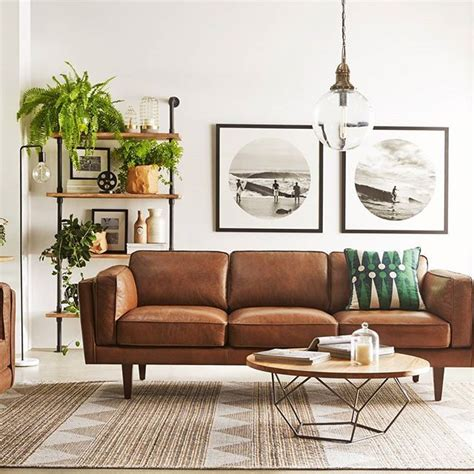 Light Brown Leather Sofa Living Room Ideas by 25 Best Ideas About Sofa On