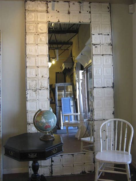 floor mirror marshalls stunning mirror frame made out of antique ceiling tins cre8ive home decor pinterest floor