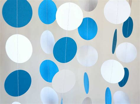 And Blue Birthday Decorations - blue and white garland birthday decorations fathers day