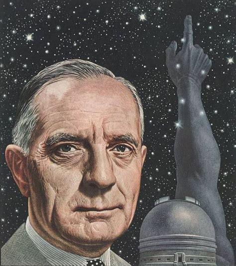 Astronomer Edwin Hubble Time Cover Art Boris