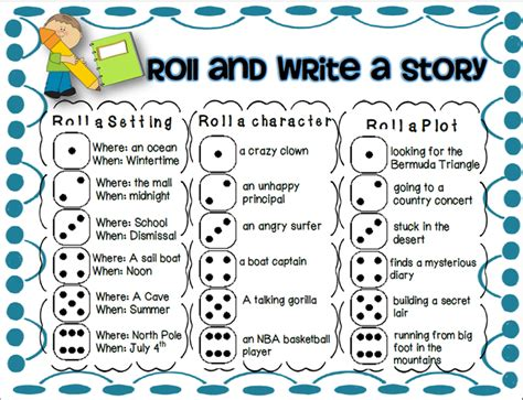Roll A Story On Pinterest  French Classroom Decor, Work On Writing And Opinion Writing