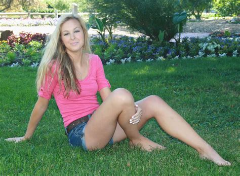 Sexy Blonde In Pink W Blue Daisy Dukes Denim Shorts Flickr