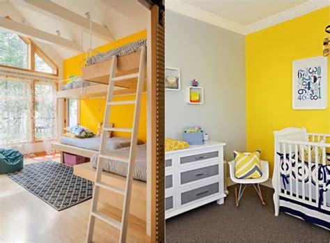 deco chambre jaune idée décoration chambre enfant jaune
