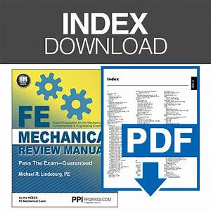 Fe Mechanical Review Manual Index