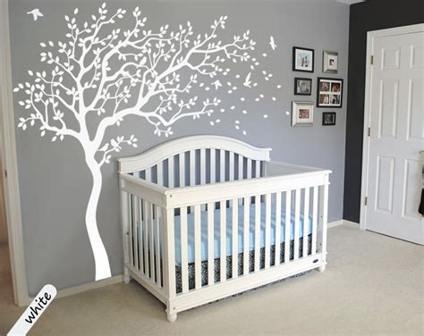stickers étoile chambre bébé white tree wall decals large tree nursery decoration