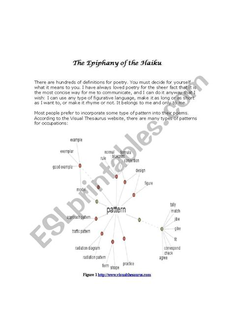 We compare your text to over 10 billion documents. English worksheets: The Epiphany of the Haiku