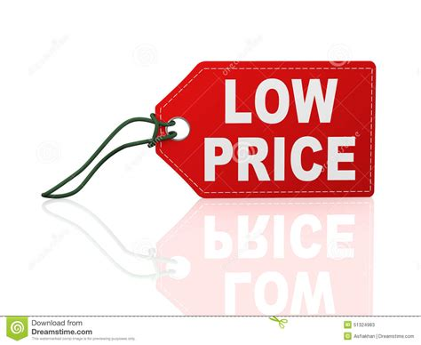 3d Low Price Tag Label Word Text Stock Illustration