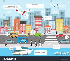 Transportation City Traffic Infographics Element Can Stock