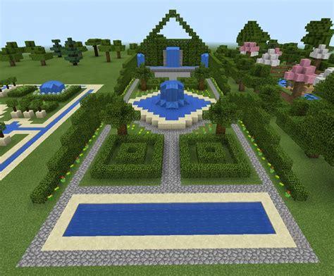 minecraft garden  fountain minecraft creations