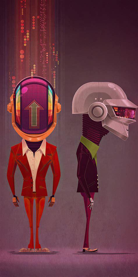 1080x2160 Daft Punk Robotic 4k One Plus 5T,Honor 7x,Honor ...