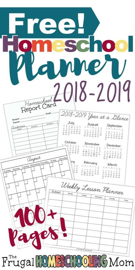 printable homeschool planner   lesson