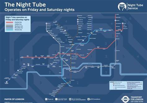 night tube map   londonist