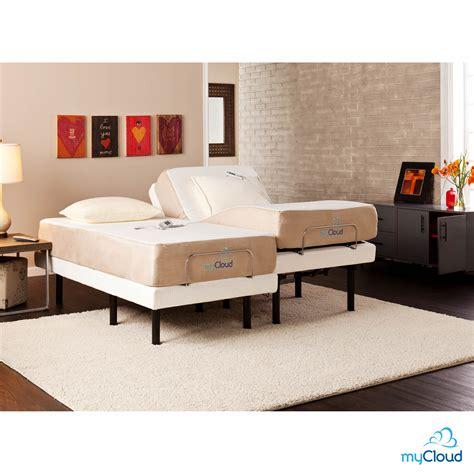 split king mattress sei mycloud split king size adjustable bed frame with