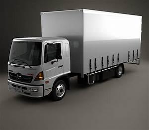 Hino 500 Fd  1027  Load Ace Box Truck 2008 3d Model