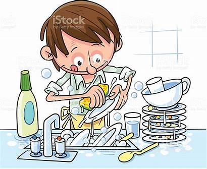 Washing Dishes Clipart Washes Clip Lave Kitchen