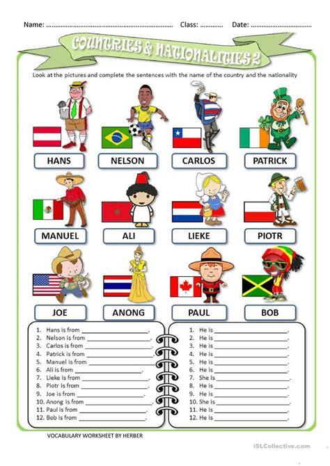 countries  nationalities  ws worksheet  esl