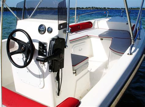 Bluewater Boats Rent A Boat Vourvourou by Tempest 450 30hp Www Bluewaterboats Gr