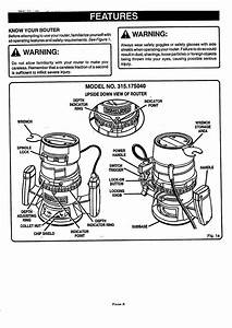 Craftsman 315175050 User Manual Double Insulated Router