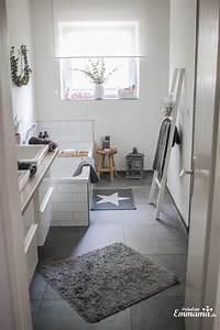 Badezimmer Fliesen Grau Weiß : makeover badezimmer in grau und wei fr ulein emmama ~ Watch28wear.com Haus und Dekorationen