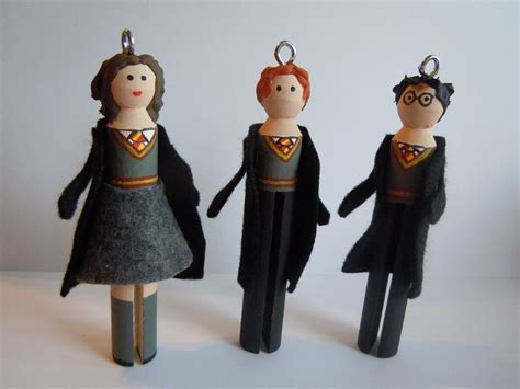 harry potter ron weasley  hermione granger clothespin