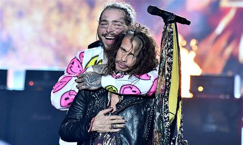 Post Malone Hit The Stage With Aerosmith At The 2018 'mtv