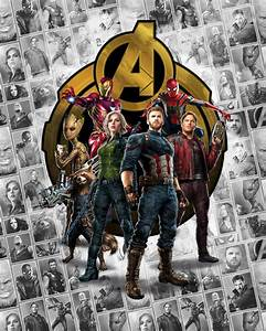 Non Woven Photomural QuotAvengers Infinity War Pattern Box
