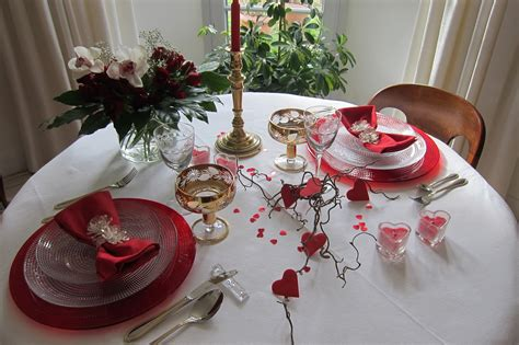 decoration pour la valentin deco valentin table