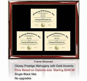 triple certificate frame college diploma frame certificate With triple document frame