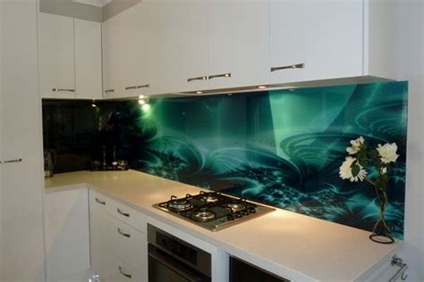 kitchen with glass backsplash solid glass kitchen backsplash production and installation