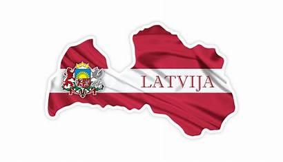 Latvian Flag Arms Coat Country Latvia