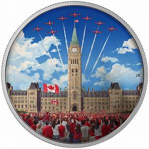 2017 Canada 2 oz Silver Colorized Glow in the Dark Proof ...