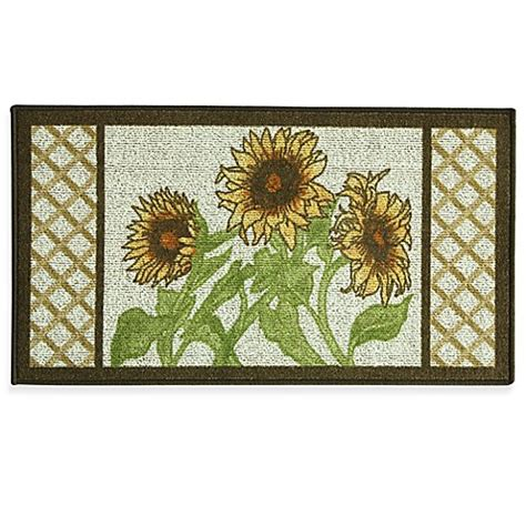 Kitchen Rugs Sunflowers by Bacova Sunflower Frame 22 4 Inch X 40 Inch Berber Kitchen