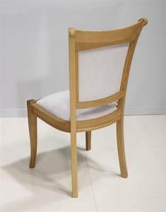 Chaise Chene Clair : chaise benjamin en ch ne massif de style louis philippe tissu gris clair meuble en ch ne ~ Teatrodelosmanantiales.com Idées de Décoration