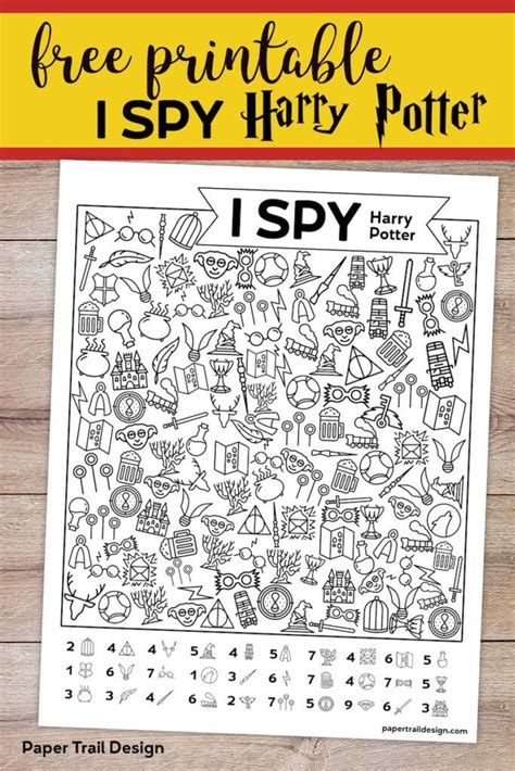 printable harry potter  spy game harry potter