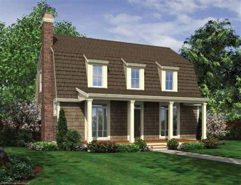 gambrel house plans gambrel roof with dormers and front porch house plan hunters