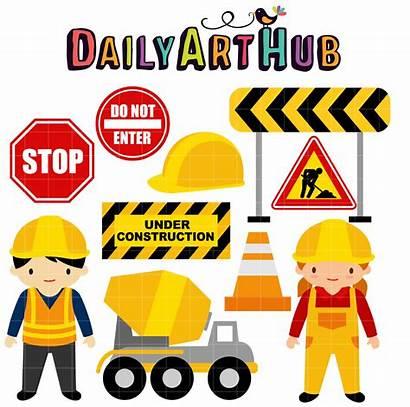 Construction Clip Clipart Under Hat Hard Contruction