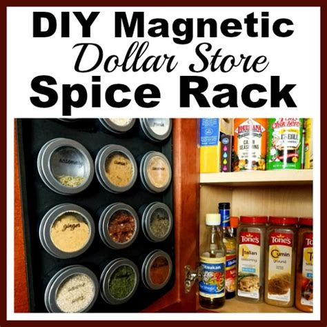 Dollar Store Spice Rack by Diy Magnetic Dollar Store Spice Rack With Free Printable