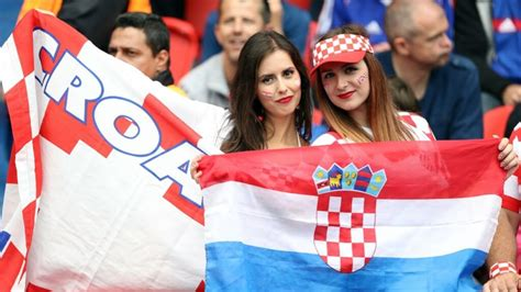 Croatian Sexy Beautiful Female Football Fans