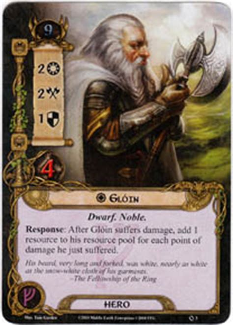lotr lcg deck lists gloin set lord of the rings lcg lord of the