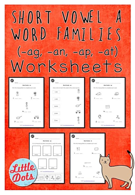 short vowel  word families worksheets